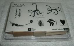 Stampin' Up - Rubber Stamp Set - Monkey Business - 8 Stamps