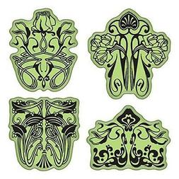 Inkadinkado Stamping Gear Cling Stamps, Art Nouveau Floral P