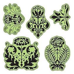 Inkadinkado Stamping Gear Cling Stamps, Floral Damask Patter