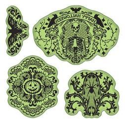 Inkadinkado Stamping Gear Cling Stamps, Halloween Lace Scrap