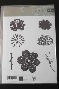Stamping Up Simple Stems Red Rubber Cling Mount Stamp Set **