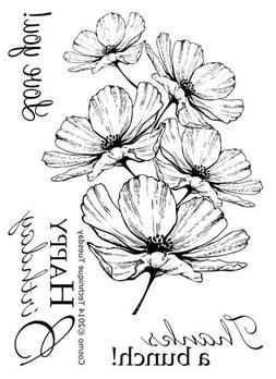 Cosmo Clear Stamps | Flowers Rubber Stamps | Photopolymer St