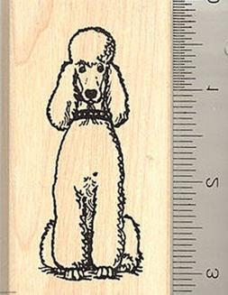 Standard Poodle Rubber Stamp J8009 Wood Mounted dog