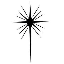 STAR of BETHLEHEM unmounted rubber stamp, religious Christma