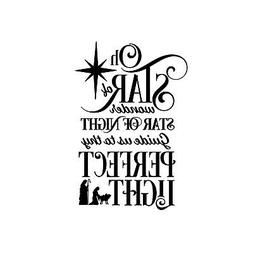 Star of Wonder Christmas Carol Unmounted Rubber Stamp - Reli