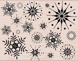 Hero Arts Rubber Stamps Stunning Snowflakes Woodblock Stamp
