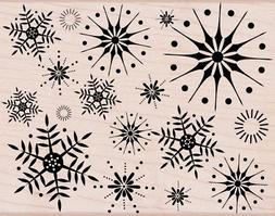 stunning snowflakes woodblock stamp