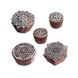 Stylish Designs Mandala and Round Wooden Block Stamps