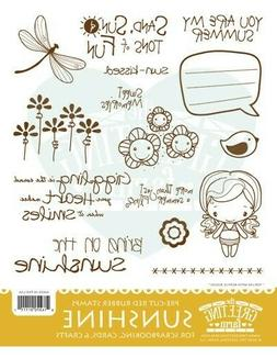 SUNSHINE KIT-The Greeting Farm Rubber Stamp-Stamping Craft-A