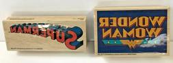 Inkadinkado Superman and Wonder Woman Rubber Stamps New