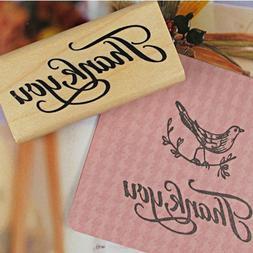 Thank You Wood <font><b>Stamps</b></font> DIY Scrapbooking T