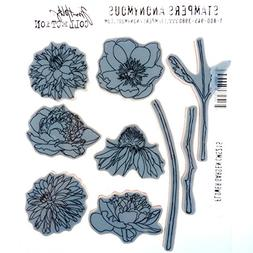 Stampers Anonymous Tim Holtz Cling Rubber Flower Garden Stam