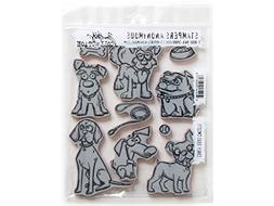 Tim Holtz Cling Stamps 7X8.5-Crazy Dogs