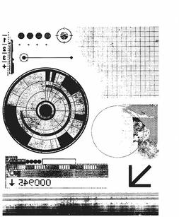 Tim Holtz Glitch 1 Rubber Stamp Set Stampers Anonymous CMS40