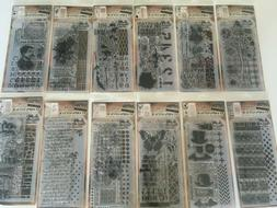 Tim Holtz Stampers Anonymous Rubber Cling Stamp Set YOU PICK
