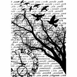 TIME Cling Rubber Stamp ATC Sized 2.5 x 3.5 by Tim Holtz