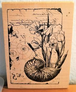 Inkadinkado Tin Can Mail Flowers with Seashell Pot No. 5 917