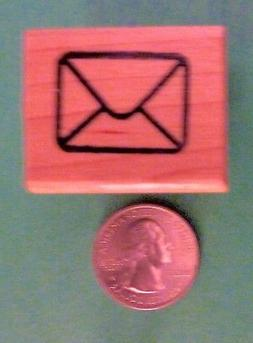Tiny Envelope - Wood Mounted Rubber Stamp