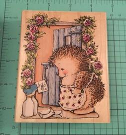 Penny Black To You Hedgehog Rubber Wood Stamp