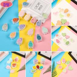 Toy Art Decor Rubber Stamp Paint Ink Pad Water Drop Shape Fi
