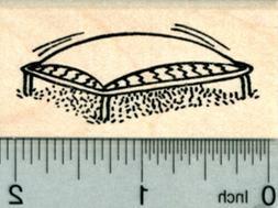Trampoline Rubber Stamp, 2 inch wide E30305 WM