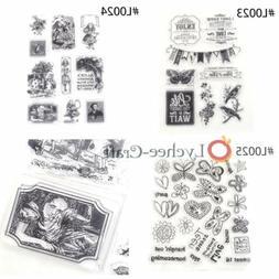 Transparent Clear Scrapbooking Decorating Rubber Stamp DIY C