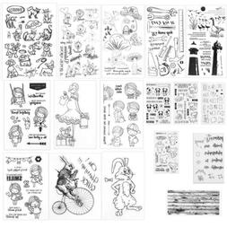 Transparent Clear Silicone Rubber Stamp Cling Diary Scrapboo