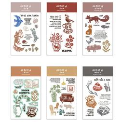 Transparent Color Silicone Rubber Stamp Cling DIY Diary Scra