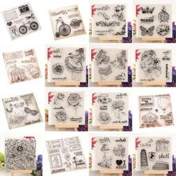 Transparent Silicone Clear Rubber Stamp Cling Diary Scrapboo