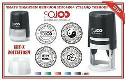 TRAXX Custom Made Self Inking Rubber  Stamp 40x40mm ROUND Lo