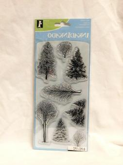 TREES Clear Unmounted Rubber 8 Stamps INKADINKADO New 60-313