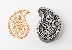Blockwallah Tribal Paisley Wooden Block Stamp