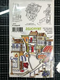 Art Impressions Try'folds Cling Rubber Stamp-Shoppes