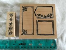Two new Summer Stamps: Decorative Frames & Flower Border, Wo