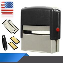 UK DIY Rubber Stamp Self inking Name Business Address Garage