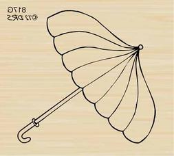 Umbrella Rubber Stamp By DRS Designs