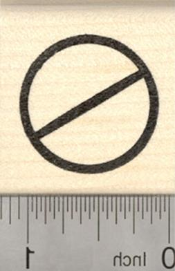 Universal No Symbol Rubber Stamp, Circle with Slash D27116 W