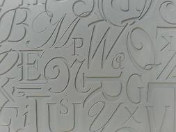 Unmounted A2 Stamp for Polymer Clay ~ CALLIGRAPHIC ~ PrintMa