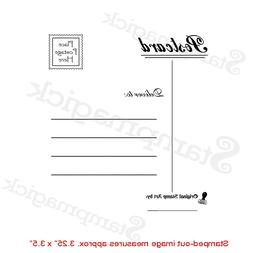 Unmounted Faux Postage Rubber Stamp mail post postal postmar