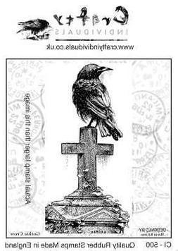"Crafty Individuals Unmounted Rubber Stamp 2.75""X5.39"" Gothic"