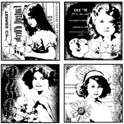 "Crafty Individuals Unmounted Rubber Stamp 4.75""X7"" Pkg-4 Pre"