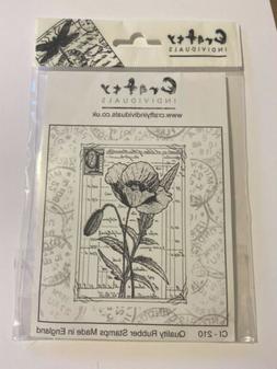 """Crafty Individuals Unmounted Rubber Stamp, 4.75"""" x 7"""", Prett"""
