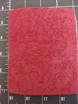 Unmounted Rubber Stamp Background Swirl Flower leaf wallpape