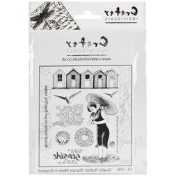 "Crafty Individuals Unmounted Rubber Stamp 4.75""X7"" Pkg-Besid"