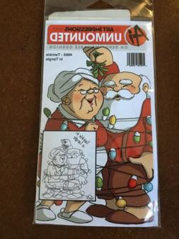 Art Impressions Unmounted Rubber Stamp - Christmas Santa Cla