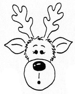 Unmounted Rubber Stamp, Christmas Stamps, Seasonal, Rudolph
