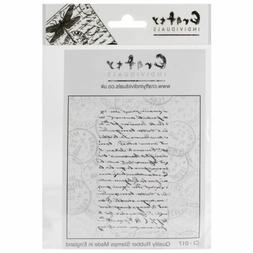 Crafty Individuals Unmounted Rubber Stamp 4.75X7 Pkg-French