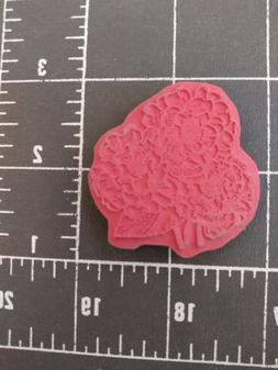 Unmounted Rubber Stamp Summer Flower jewelry brooch necklace