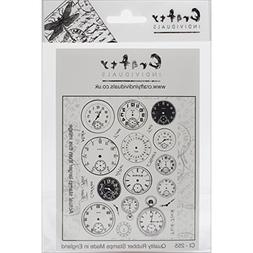 "Crafty Individuals Unmounted Rubber Stamp 4.75""X7"" Pkg-Tick"