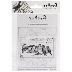 "Crafty Individuals Unmounted Rubber Stamp, 4.75"" x 7"", Poiso"